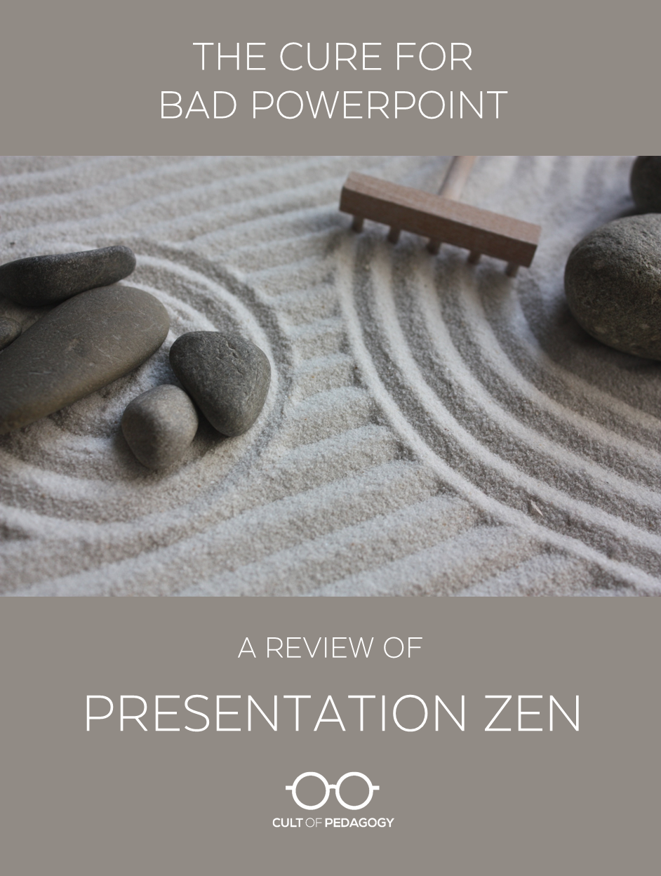 The cure for bad powerpoint a review of presentation zen cult this post contains amazon affiliate links which means we receive a small commission on any purchase you make during that visit at no extra cost to you toneelgroepblik Gallery