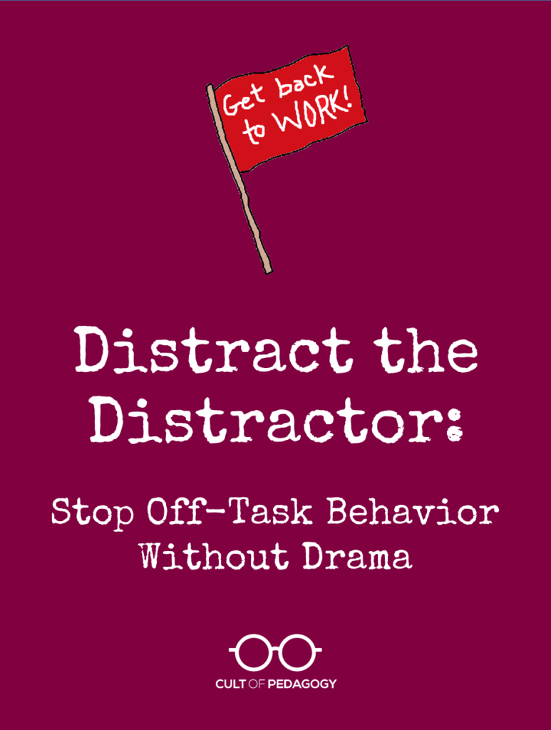 Distract the Distractor: Stop Off-Task Behavior Without