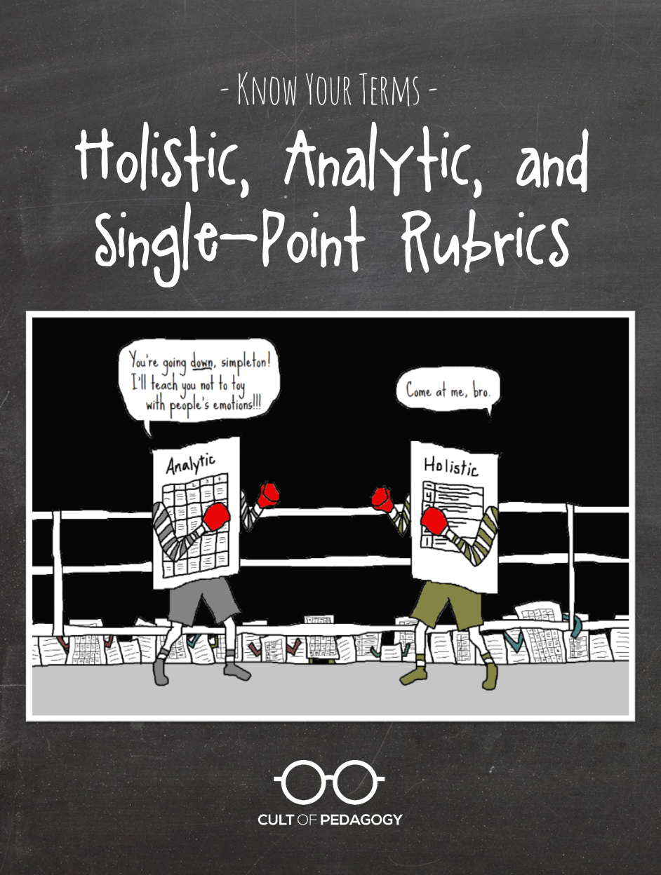 know your terms holistic analytic and single point rubrics know your terms holistic analytic and single point rubrics