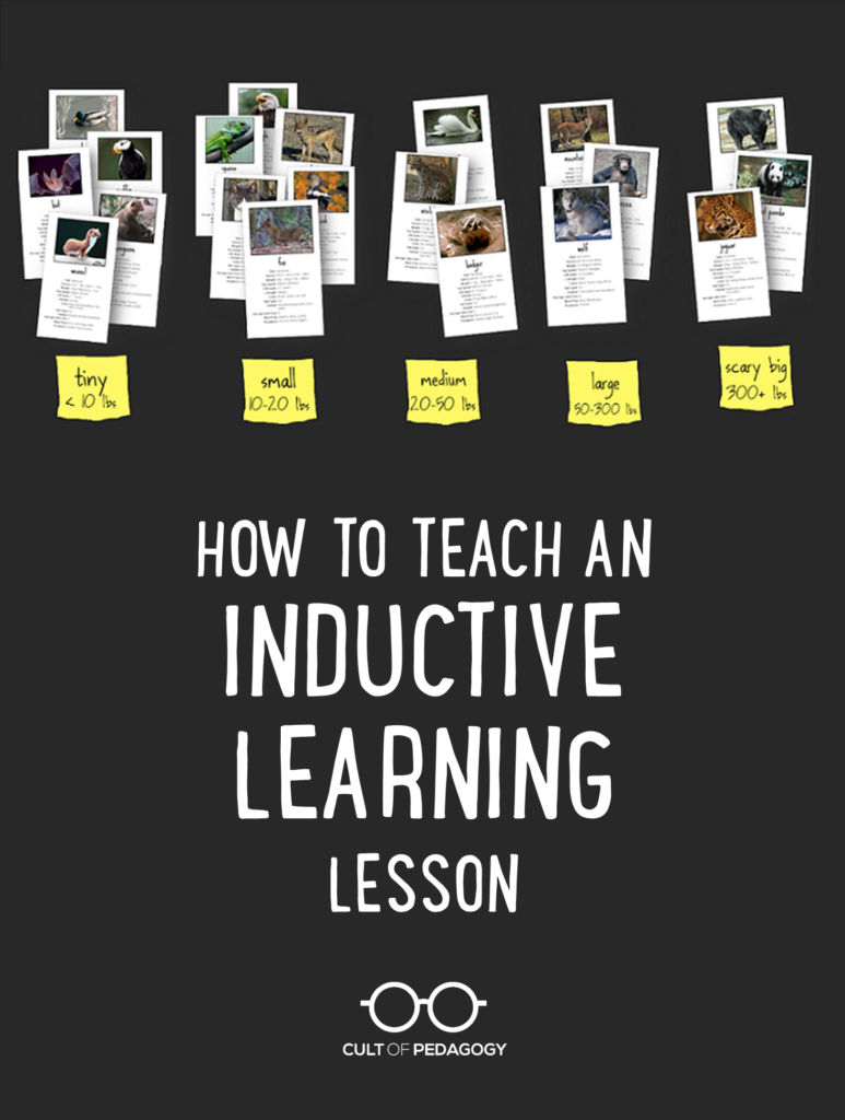 How To Teach An Inductive Learning Lesson Cult Of Pedagogy