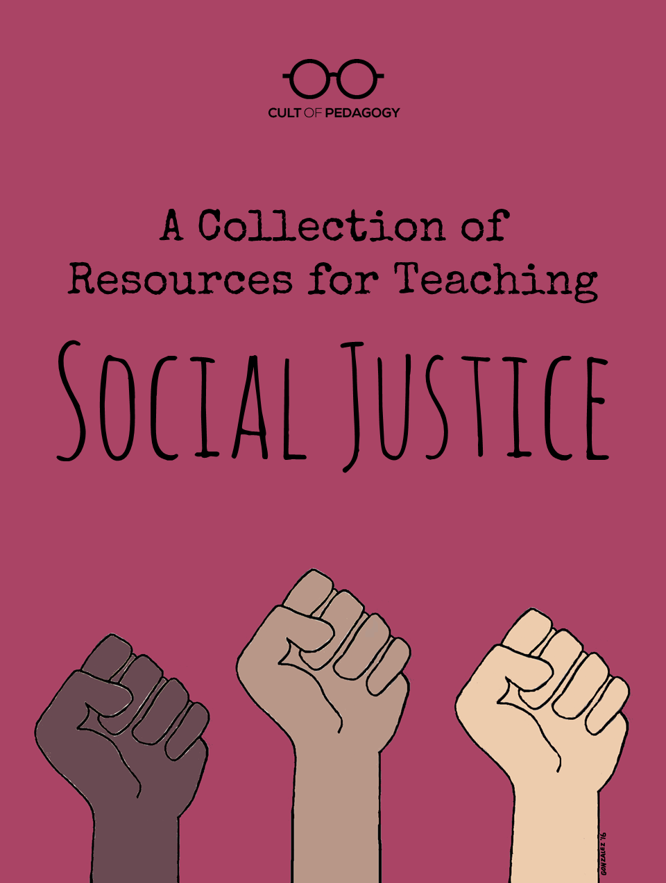 a collection of resources for teaching social justice cult of social justice pin