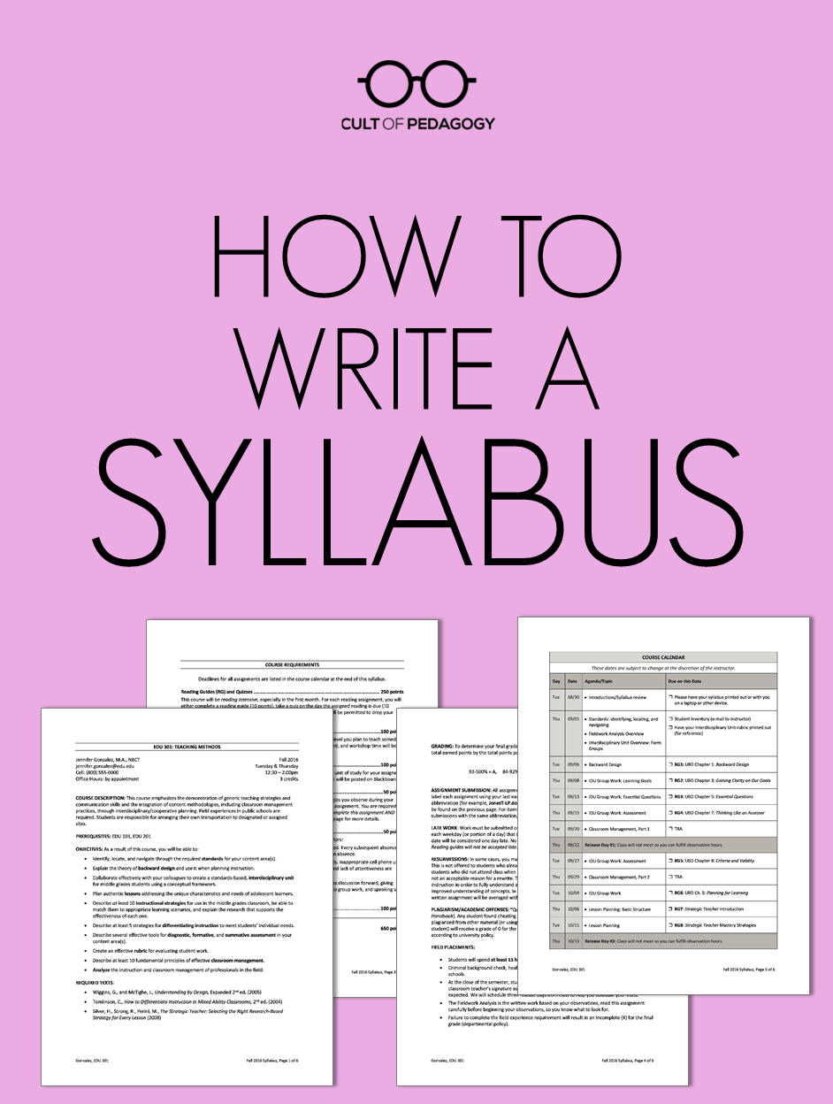 Syllabus-How-To