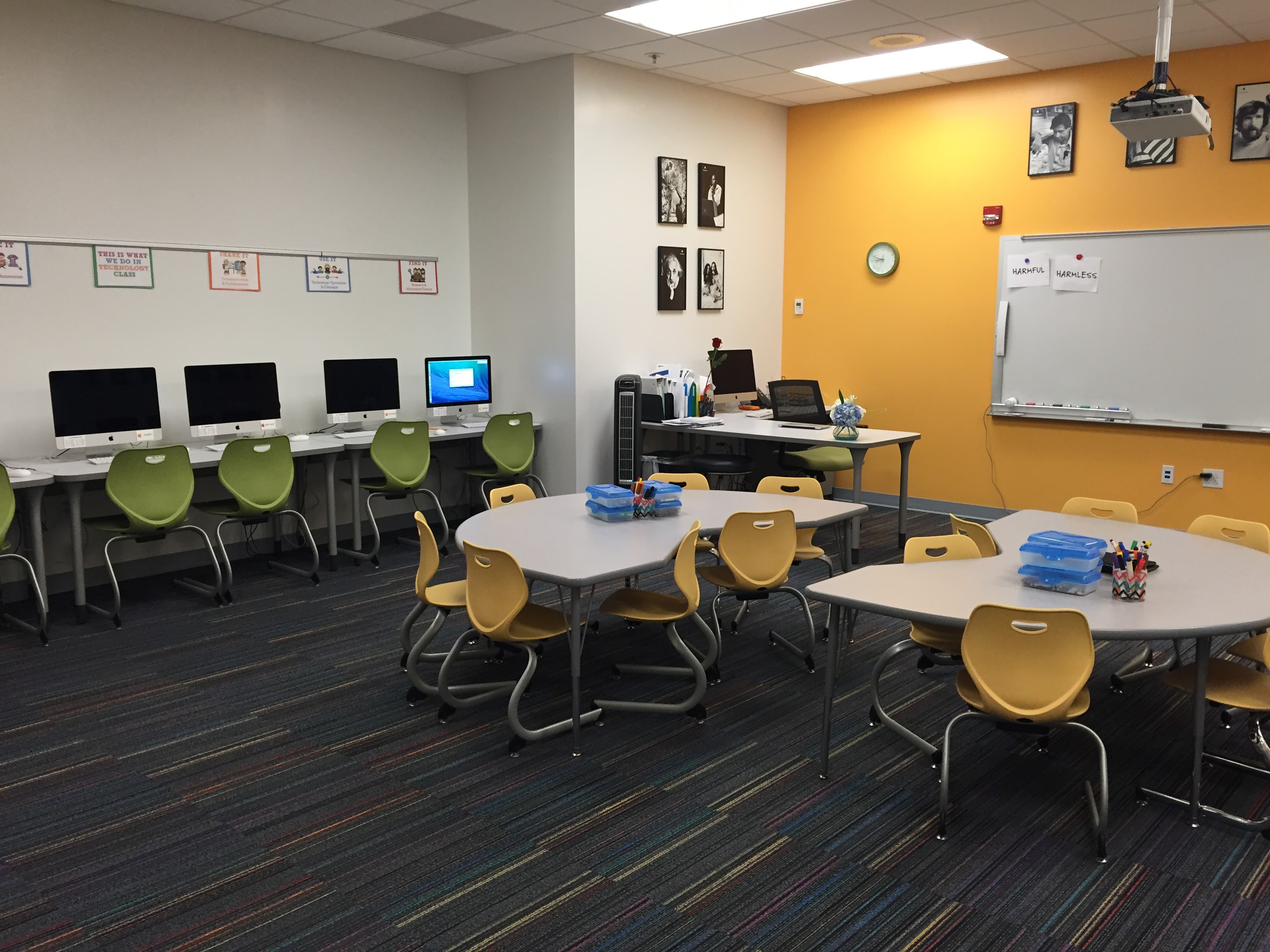 Less Visual Clutter Creates A Space Where Students Can Focus. Photo  Courtesy Of Robert Dillon.
