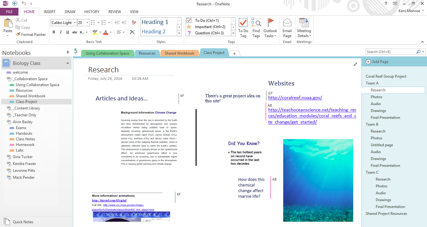 OneNote Class Notebook: A Digital Binder That Will Change