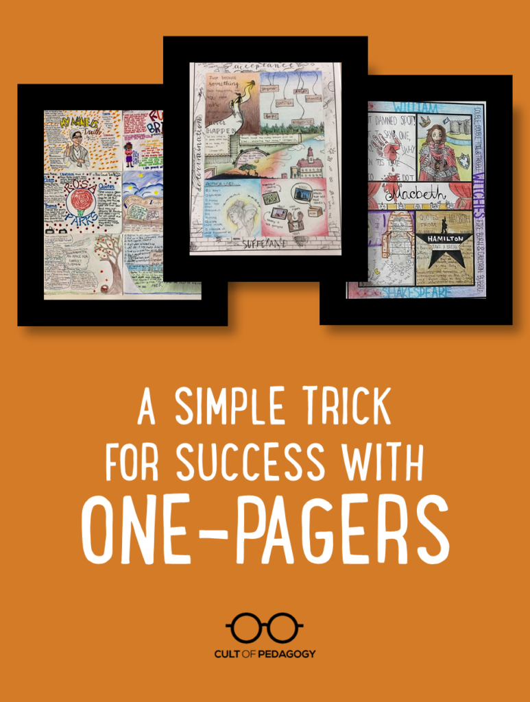 A Simple Trick for Success with One-Pagers