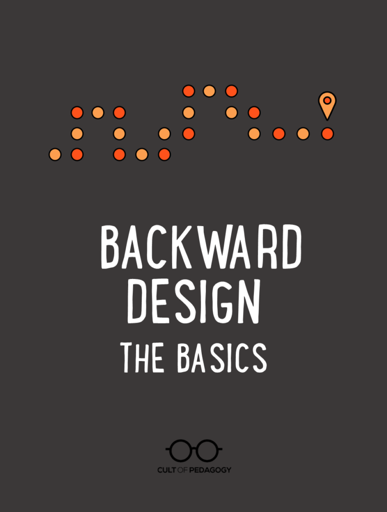 Backward Design The Basics Cult Of Pedagogy